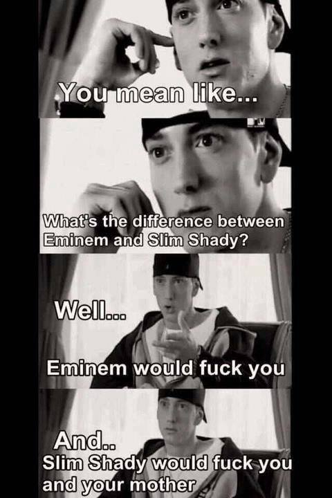 What's the difference between Эминем and slim shady?