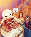 When Baymax meet Beast - beauty-and-the-beast photo