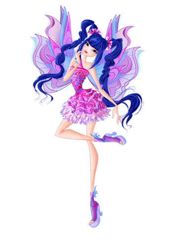 the winx club wallpaper with a bouquet called Winx Mythix Couture