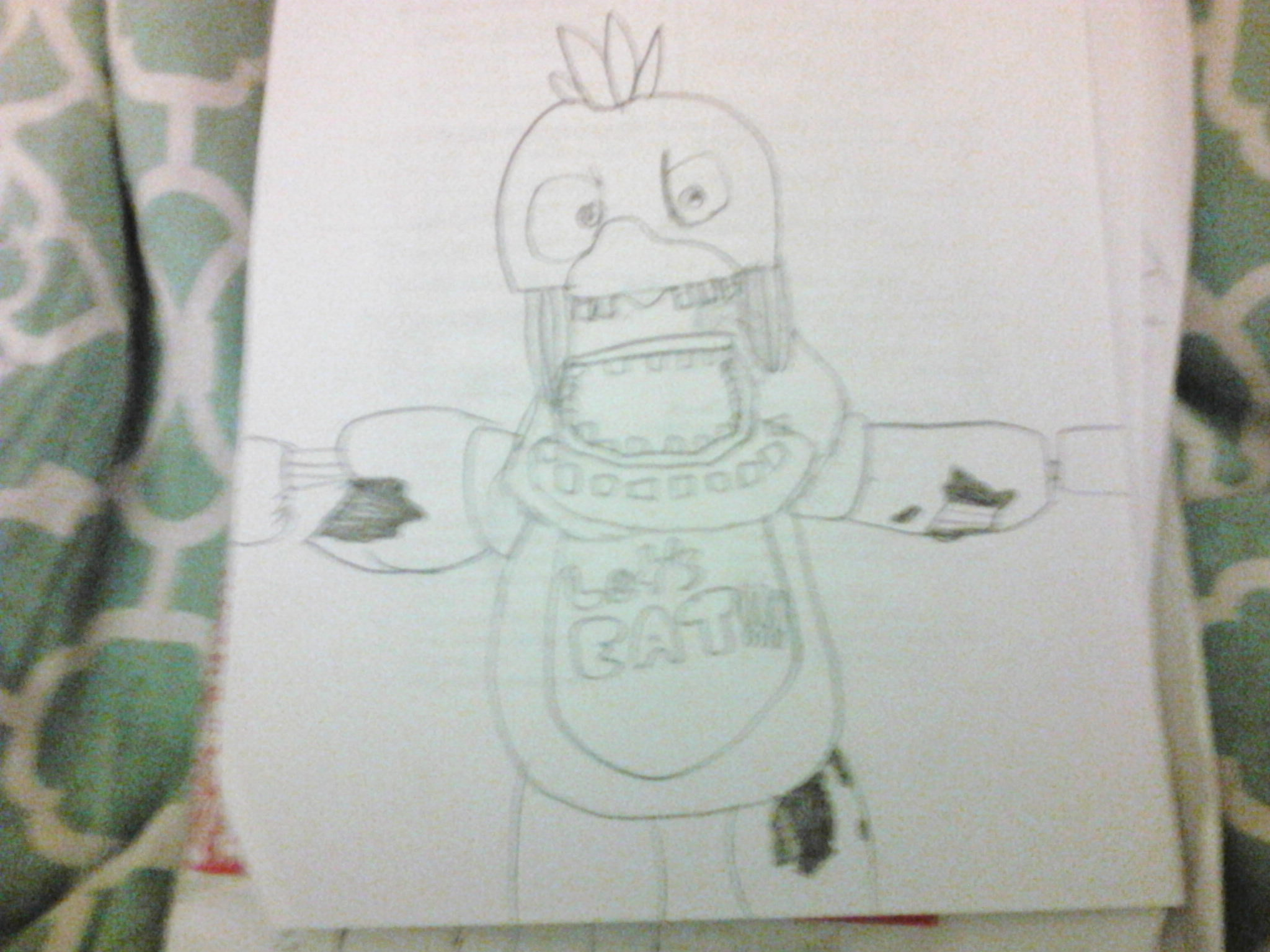 Withered Chica (UNCOLORED VERSION)