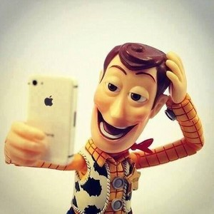 Woody with Iphone