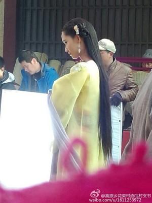 Yoona filming God of War Zhao Yun