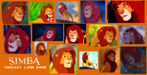 adult Simba collage