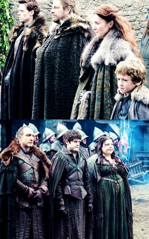 House Stark - Season 1 & House Bolton - Season 5