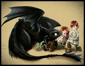hiccup and his sister
