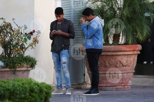 jaafar jackson and jermajesty jackson at the commons in calabasas