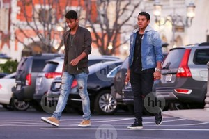 jaafar jackson with bro jermajesty at the commons in calabasas