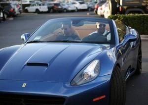 jaafar jackson with dad jermaine jackson in ferrari car in calabasas