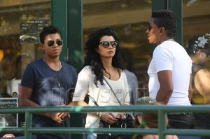 jermaine with his son jermajesty andwife halima in calabasas