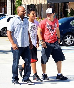 jermajesty with cousin prince jackson in calabasas