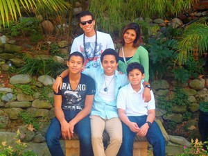 jermajesty with his brothers and sister in calabasas