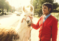 llama and Michael Jackson - michael-jackson photo