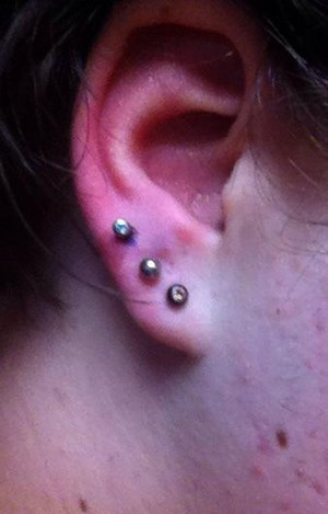 my earrings on my right ear