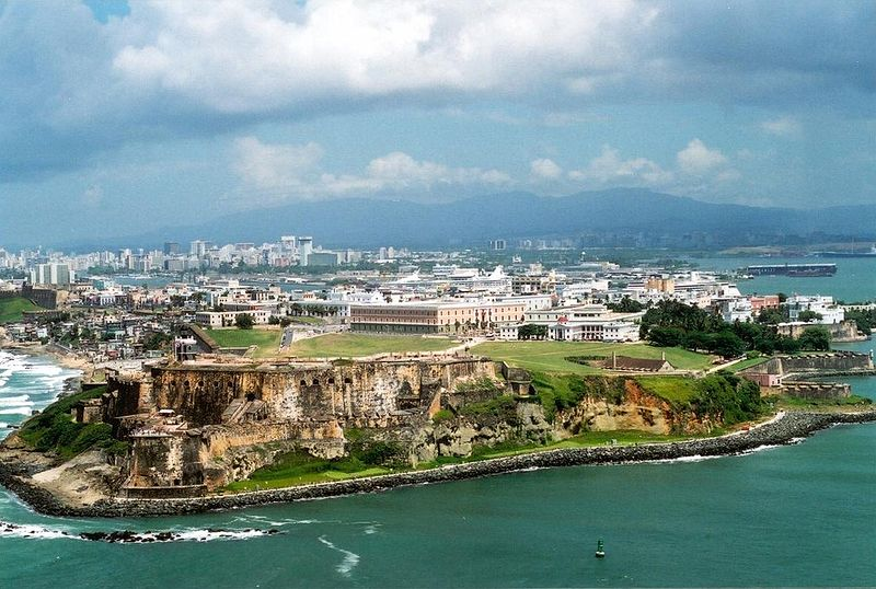 The Carribbean images old san juan ariel view HD wallpaper and background photos