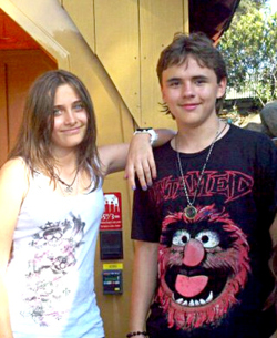 paris jackson and her brother prince
