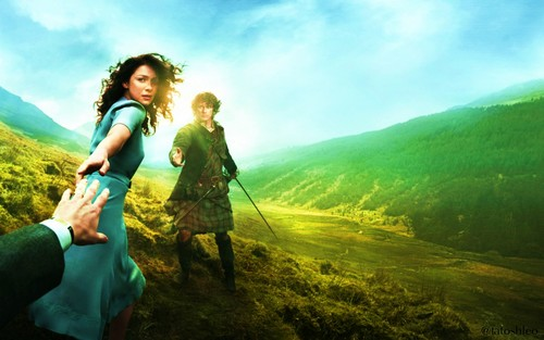 outlander série de televisão 2014 wallpaper possibly containing a atirador and a green boina titled season 1- wallpaper