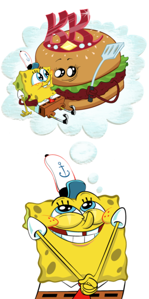 the krusty krab patty क्वीन
