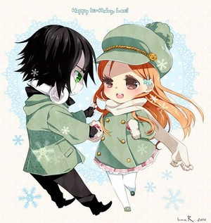 ulquiorra and orihime!~