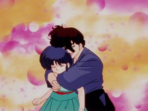 unwanted affection_Kuno hugs Akane
