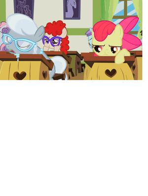 x3 Drooling Silver Spoon And Bored Applebloom x3