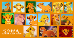 young Simba collage