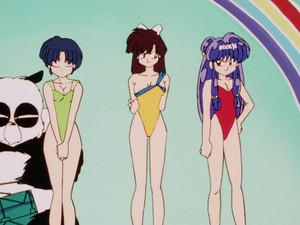 らんま 1/2 Akane, Ukyo, and Shampoo