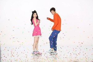 150203 ‪‎IU and Song Jaerim‬ at the 스베누 SBENU‬ CF shoot