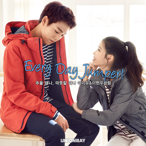 150211 IU for 유니온베이 UNIONBAY's 'Every Day Jumper' Facebook update