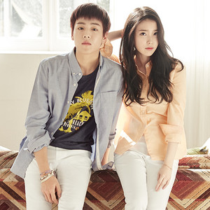 IU and Hyunwoo for 유니온베이 UNIONBAY website update