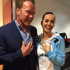 Katy and Schwarzenegger