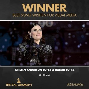 """Let it Go"" Wins 2015 Grammy Award for Best Song Written For Visual Media"