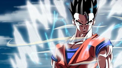 Dragon Ball Z karatasi la kupamba ukuta entitled *Mystic Gohan*