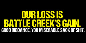 'Our loss is Battle Creek's gain'