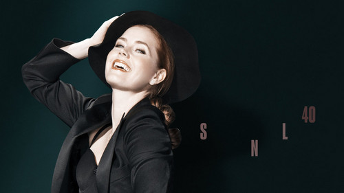 Amy Adams karatasi la kupamba ukuta containing a business suit and a well dressed person titled Amy Adams Hosts SNL: December 20, 2014