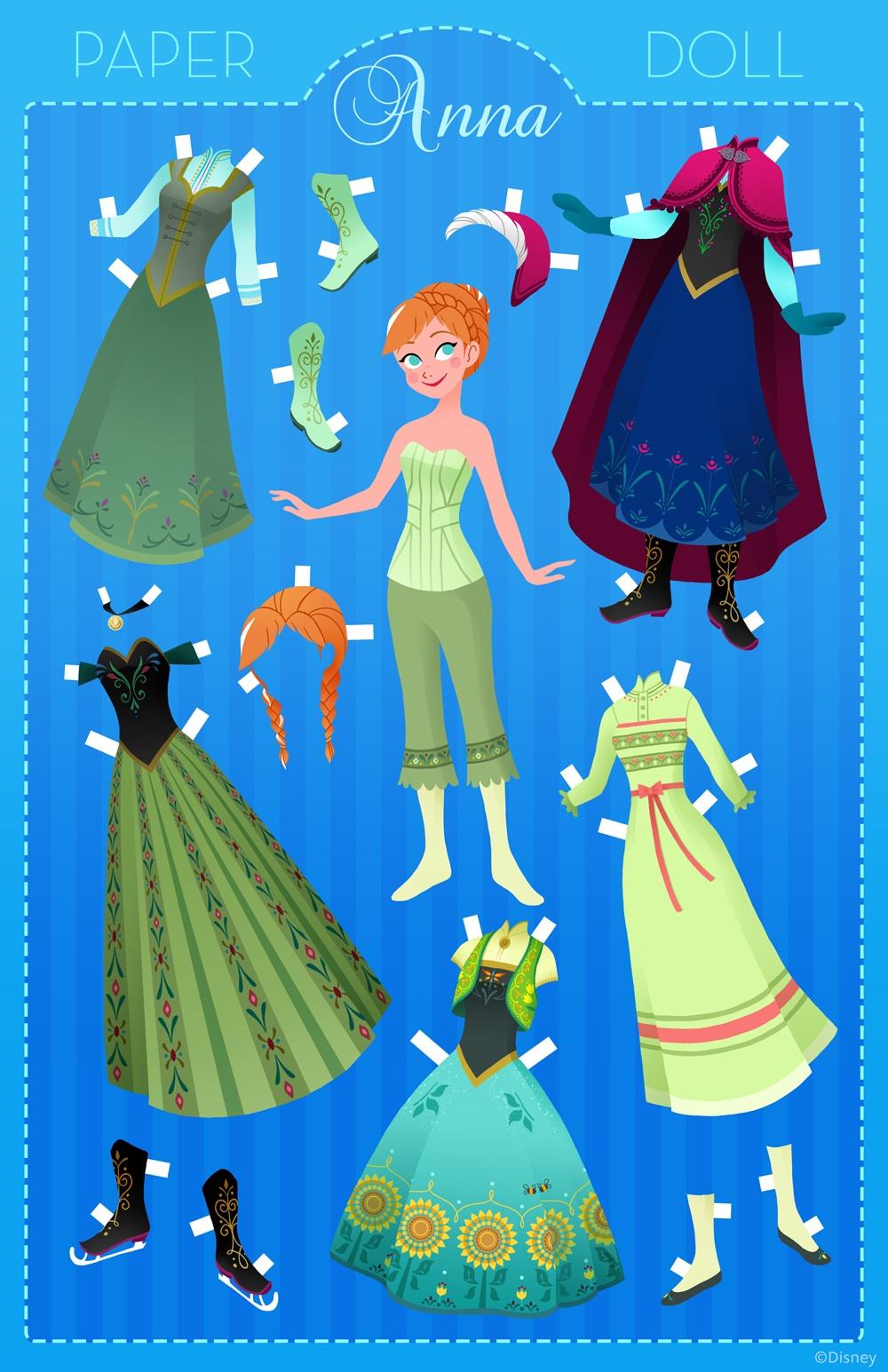 Anna Paper Doll Frozen Foto 38132012 Fanpop