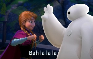Anna and Baymax