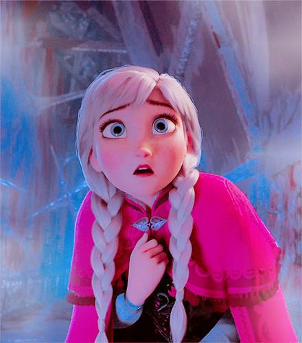 Frozen achtergrond entitled Anna
