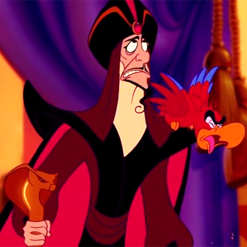 Disney Villains karatasi la kupamba ukuta entitled Annoyed Jafar and Iago