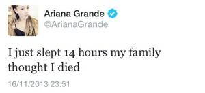 Ariana Grande Tweet
