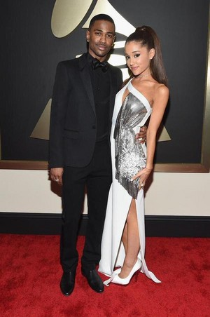 Ariana Grande and Big Sean attends The 57th Annual GRAMMY Awards