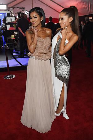 Ariana Grande and Jhene Aiko 2015 Grammy Awards
