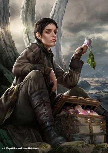 Песнь Льда и Огня Обои containing a green beret, утомляет, усталость, усталости, and a стрелок titled Asha Greyjoy