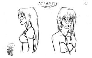 Atlantis: The 로스트 Empire - Kida Model Sheet