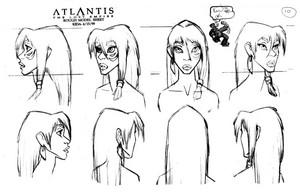 Atlantis: The Nawawala Empire - Kida Model Sheet