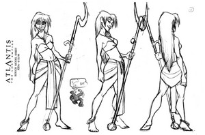 Atlantis: The Lost Empire - Kida Model Sheet