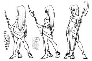 Atlantis: The लॉस्ट Empire - Kida Model Sheet