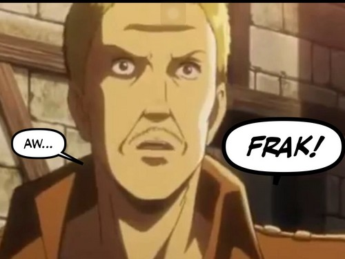 Attack on Titan 壁纸 with 日本动漫 called Attack on Titan: Hannes quoting Battlestar Galactica!