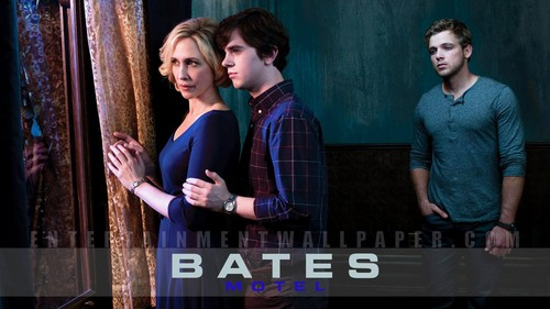 Bates Motel wallpaper probably containing a sign called Bates Motel Wallpaper