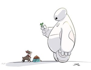 Baymax and Winston