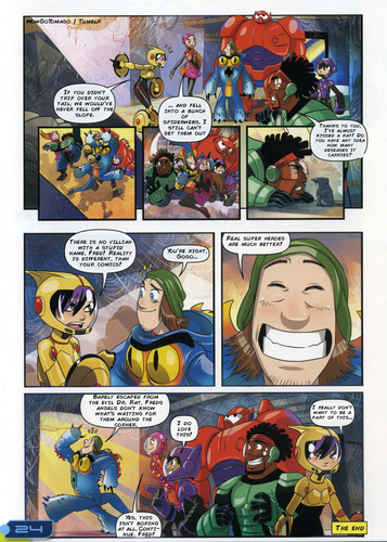 Big Hero 6 Hintergrund containing Anime called Big Hero 6 Comic - Adventurous Imagination
